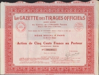 LA GAZETTE des TIRAGES OFFICIELS