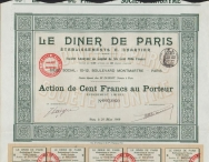 LE DINER DE PARIS - Etablissements CHARTIER