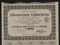 Action: DIMANCHES LITTERAIRES