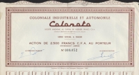 COLONOTO Coloniale Industrielle & Automobile (SENEGAL)