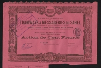 DECO => TRAMWAYS & MESSAGERIES du SAHEL (ALGERIE)