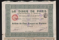 LE DINER DE PARIS, établisements CHARTIER