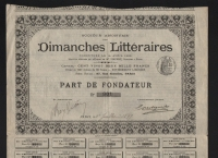 Part: DIMANCHES LITTERAIRES